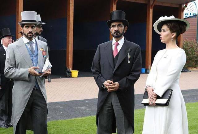 تیپ حاکم دبی و همسرش در لندن +عکس