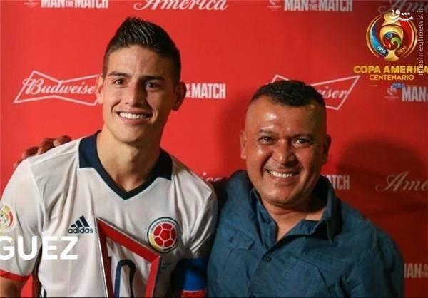 عکس: بهترین بازیکن دیدار کلمبیا - پاراگوئه