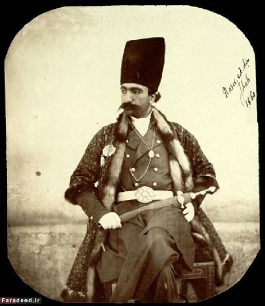 عکس: ناصرالدین شاه جوان جلوی دوربین استادش