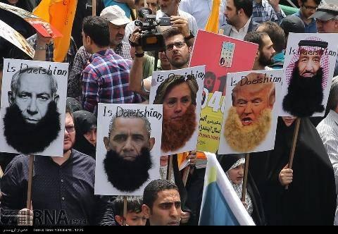 ریش داعشی برای هیلاری کلینتون در تهران (تصویر)