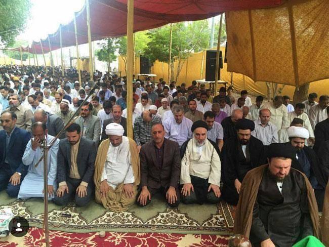 علت غیبت حسن خمینی در نماز عید فطر تهران +عکس