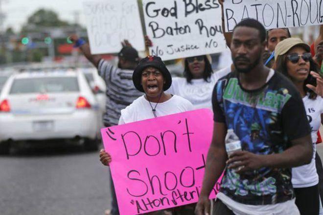 اعتراضات تازه علیه کشتن یک سیاهپوست به دست پلیس لوئیزیانا