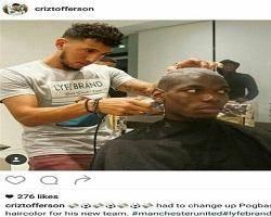 آرایشگر پوگبا تیم بعدیاش را لو داد + عکس