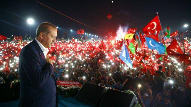 اردوغان در تجمع استانبول خواهان بازگرداندن مجازات اعدام شد