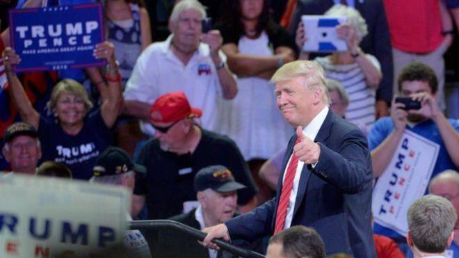 خشم از تهديد تلويحي ترامپ به ترور کلینتون