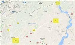 حمله جنگندههای آمریکا و ترکیه به جرابلس در حلب سوریه