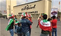 تشویق تیم ملی و شعار علیه قطر+تصاویر