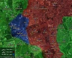 منطقه «ضاحیه الاسد» در حلب، کاملا آزاد شد + نقشه
