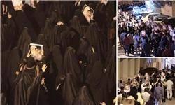 تظاهرات مردم بحرین به نشانه وفاداری به شهدا