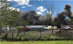 یک هواپیمای کوچک با چند ساختمان در نیوجرسی برخورد کرد