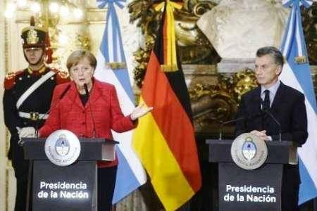 سفر مرکل به آرژانتین برای دستیابی به توافق تجاری