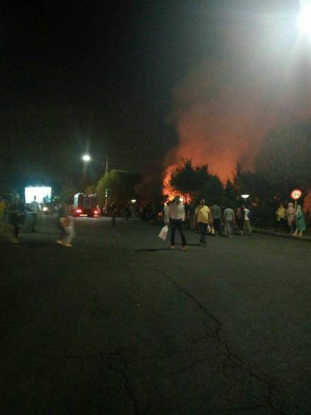 مهار آتش سوزی ایستگاه شماره یک توچال تهران