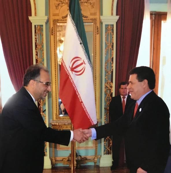 تسلیم استوارنامه سفیر ایران در پاراگوئه به رئیس جمهور این کشور