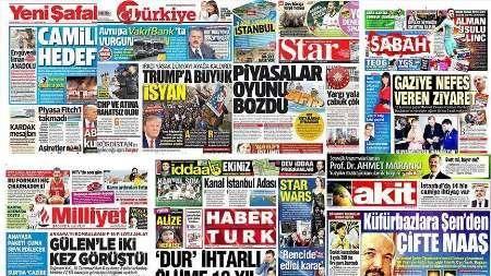 سرخط روزنامه های ترکیه / روز جمعه 8 مهر ماه 96
