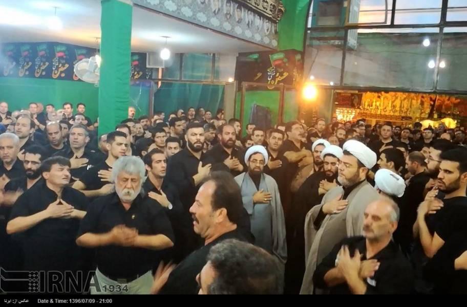 تهران - عزاداری شام غریبان در هیئت ورزشکاران شهرری
