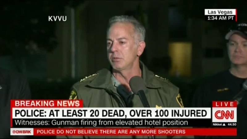 سی ان ان : تیراندازی لاس وگاس 20 کشته و 100مجروح داشته است