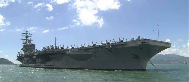 ناو هواپیمابر آمریکا در بندر هنگ کنگ پهلو گرفت