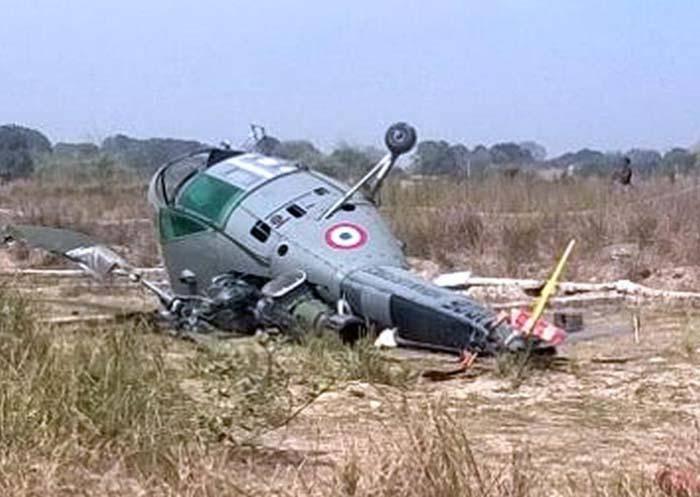 5 نفر در سقوط بالگرد نیروی هوایی هند کشته شدند