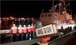 ناوگروه نیروی دریایی جمهوری آذربایجان در بندر انزلی پهلو گرفت