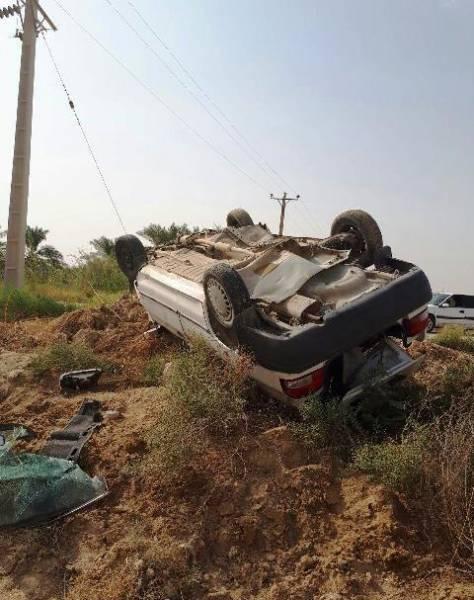 واژگونی خودروی پراید در جاده ماهشهر- چمران سه مصدوم بر جای گذاشت