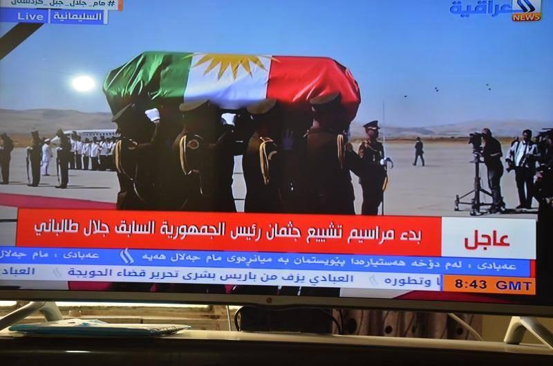 پرچم دور تابوت جلال طالبانی؛ اعتراض گسترده عراقی ها و جدل میان کردها
