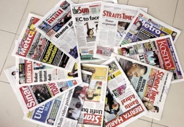 سرخط روزنامه های مالزی - شنبه 15مهر