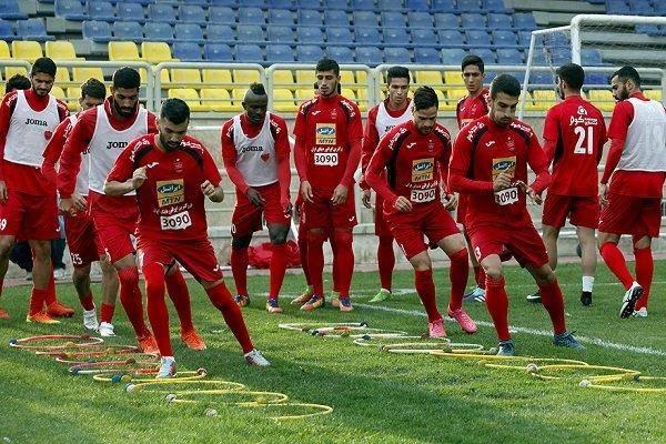 غیبت ۷ بازیکن در تمرین صبحگاهی تیم فوتبال پرسپولیس
