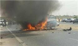 ۲ کشته و ۴ مصدوم در تصادف وانت نیسان و پراید+تصاویر