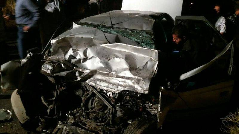 برخورد وانت و سواری پژو در محور هفت باغ کرمان یک کشته بر جا گذاشت