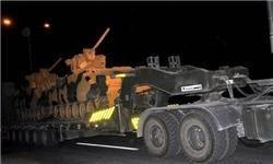 استقرار یگانهای زرهی و تکاوران ترکیه در مرز با سوریه + عکس