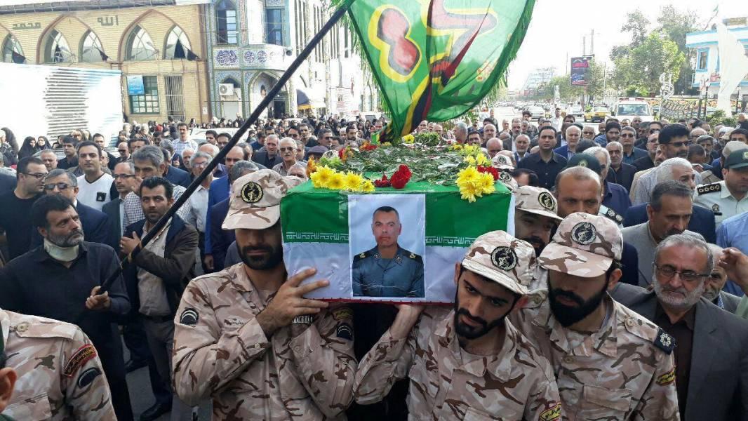 پیکر جانباز  محمود فرشباف در قائمشهر تشییع و خاکسپاری شد
