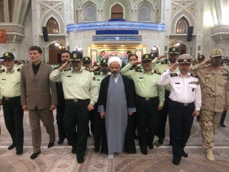 فرماندهان و کارکنان نیروی انتظامی با آرمان های امام (ره) تجدید پیمان کردند