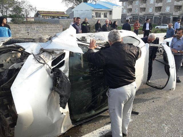 واژگونی خودروی سواری در بندرانزلی یک مصدوم بر جای گذاشت