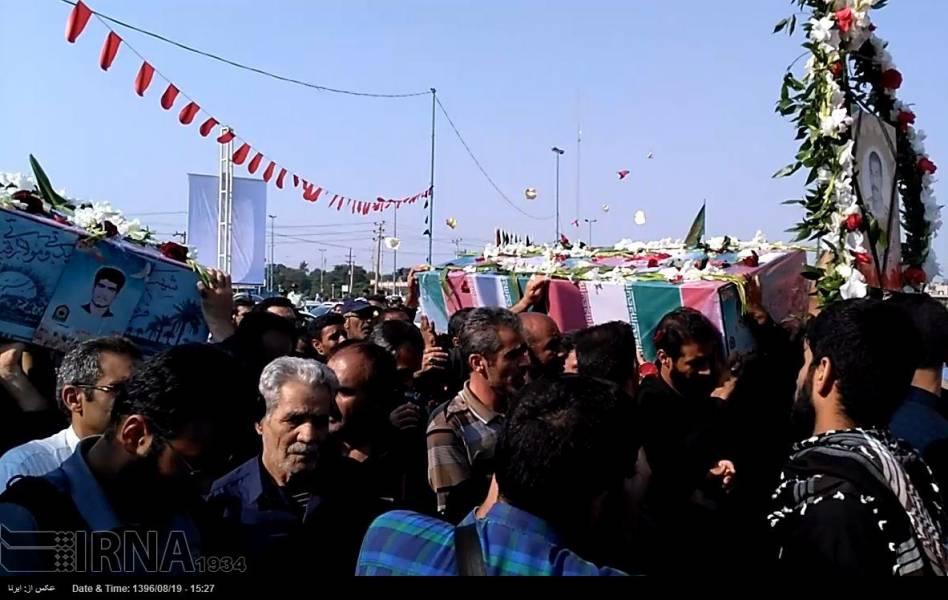 اهواز - تشییع پیکر 4 شهید نیروی انتظامی دوران دفاع مقدس