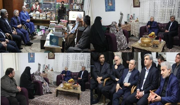 دیدار نوبخت با امام جمعه رشت و خانواده یکی از شهیدان والامقام گیلان