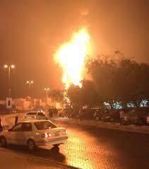 انفجار و آتش سوزی در یک خط لوله نفت بحرین