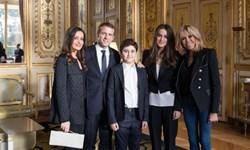 همسر سعد الحریری و فرزندانش در ضیافت «امانوئل ماکرون»