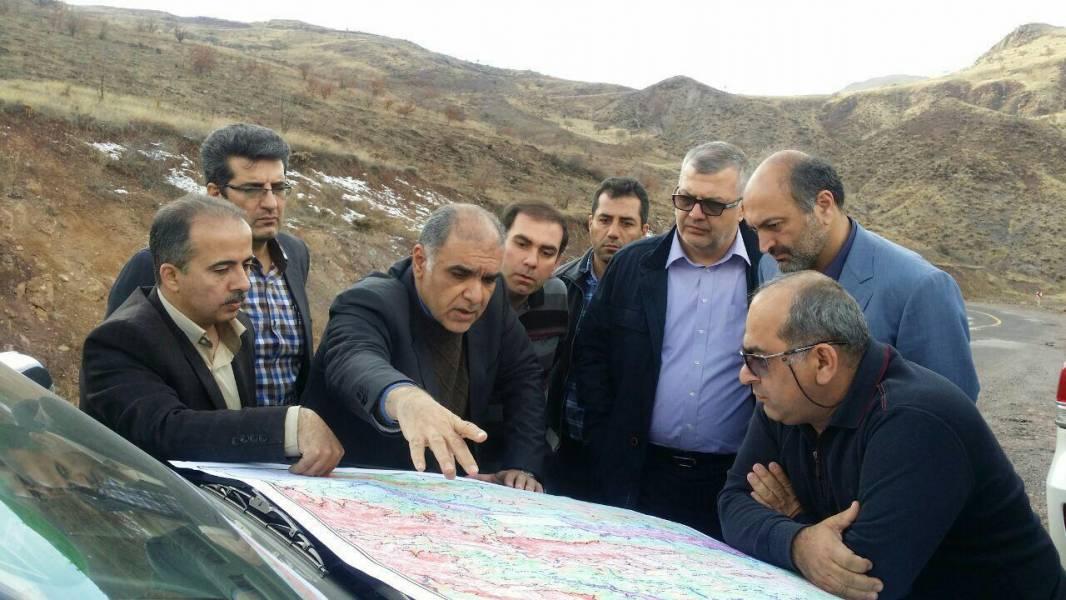 معاون وزیر راه و شهرسازی از جاده در دست احداث قزوین-کلاچای بازدید کرد