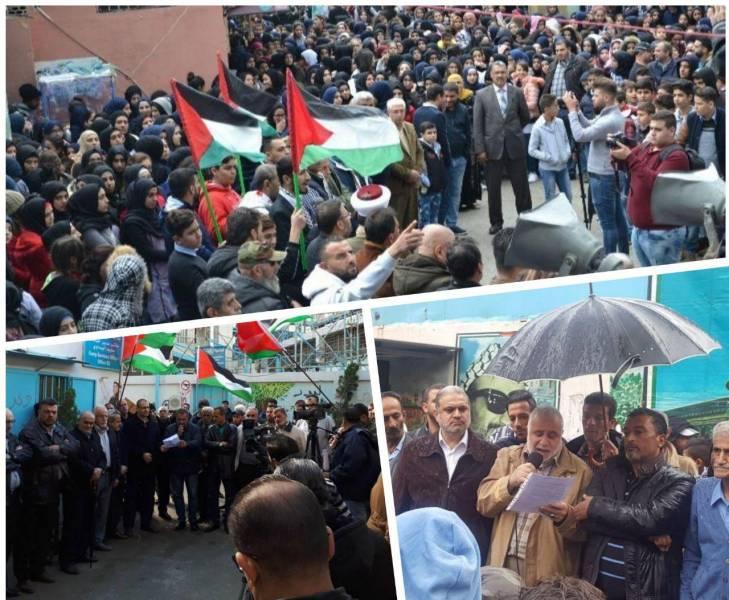تجمع های اعتراضی فلسطینیان ساکن لبنان علیه تصمیم ترامپ درباره بیت المقدس