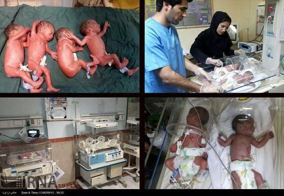 تولد نوزادان 4 قلو در سردشت