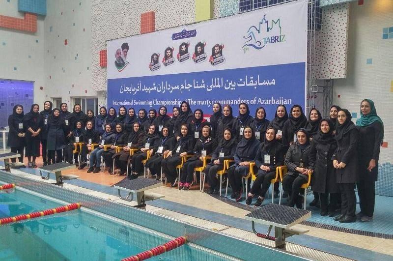 نتایج دومین روز مسابقات بین المللی شنا دختران در تبریز