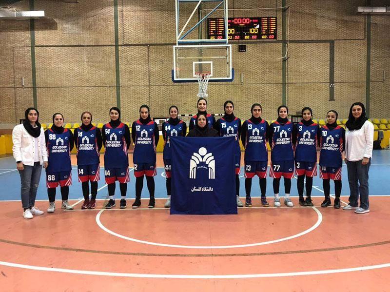 تیم بسکتبال دختران گلستان در برابر باژوند بوشهر پیروز شد