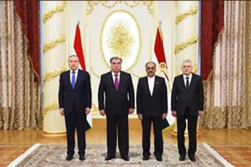 تقدیم استوارنامه سفیر جدید جمهوری اسلامی ایران به رئیس جمهوری تاجیکستان