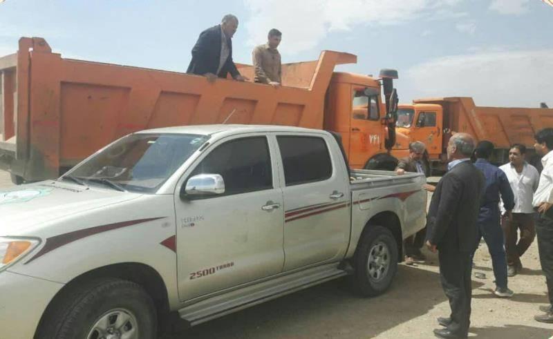 19 کامیون کمکهای مردم یزد به مناطق سیل زده لرستان ارسال شد