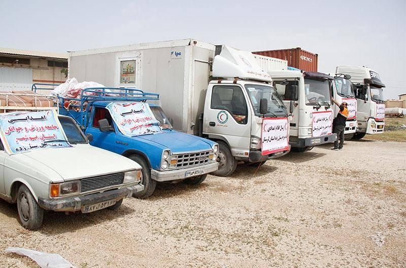کمکهای استان بوشهر برای سیل زدگان لرستان ارسال شد
