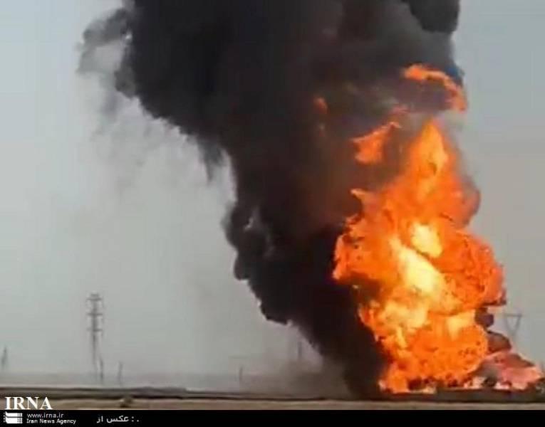 توضیحات فرماندار امیدیه درباره آتش سوزی خط لوله نفتی