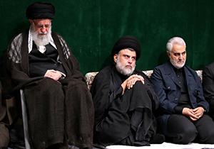 مداحی محمود کریمی در حضور سردار سلیمانی و مقتدی صدر + فیلم