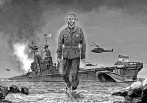 ماجرای شهادت یکی از فرماندهان سپاه بر روی ناو آمریکایی در خلیج فارس + موشن گرافیک