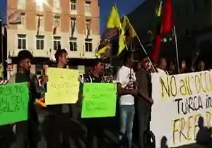 تظاهرات ترکها علیه حمله نظامی ترکیه به سوریه/ تکرار نسلکشی ارمنستان اینبار در سوریه + فیلم